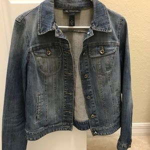 Denim skull jacket
